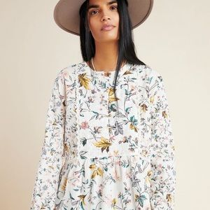 Anthropologie Ginevra Lace Babydoll Blouse